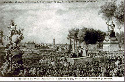 Marie Antoinette's Execution