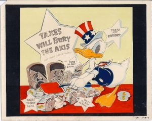 rare_disney_production_art_world_war_ii_duck