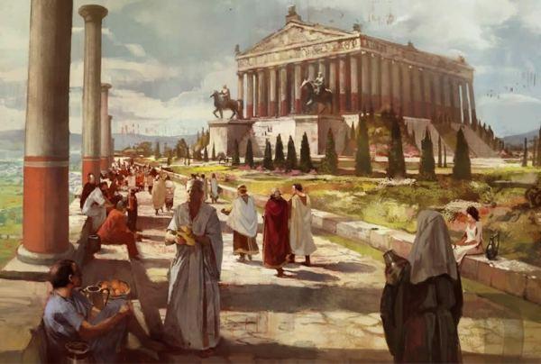 Artemis Temple Illustration
