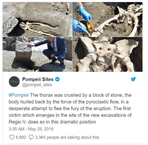 Pompeii Twitter